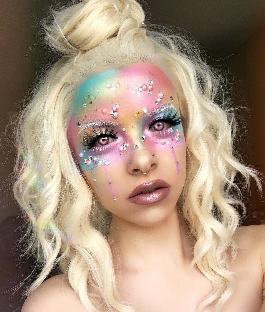 f60e3bd9f768 41 Unicorn Halloween Makeup Ideas Perfect for 2018 | Unicorn makeup ...