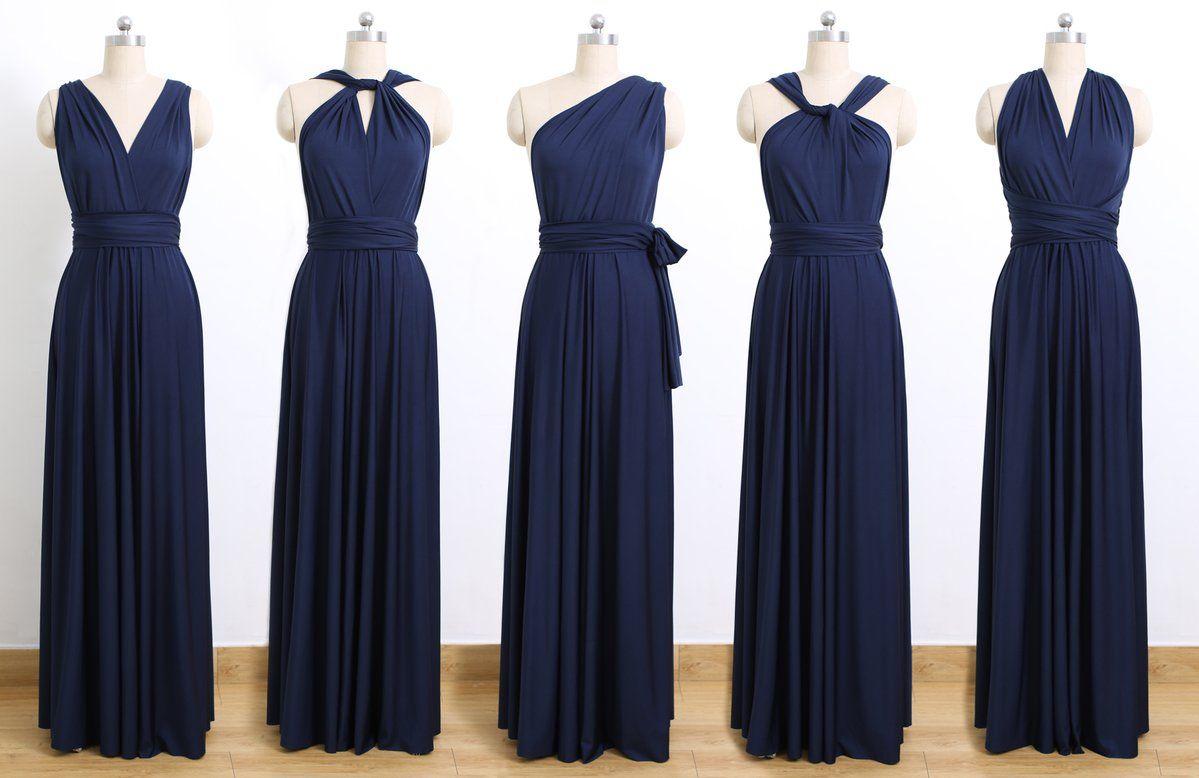 Cheap Navy Blue Bridesmaid Dresses