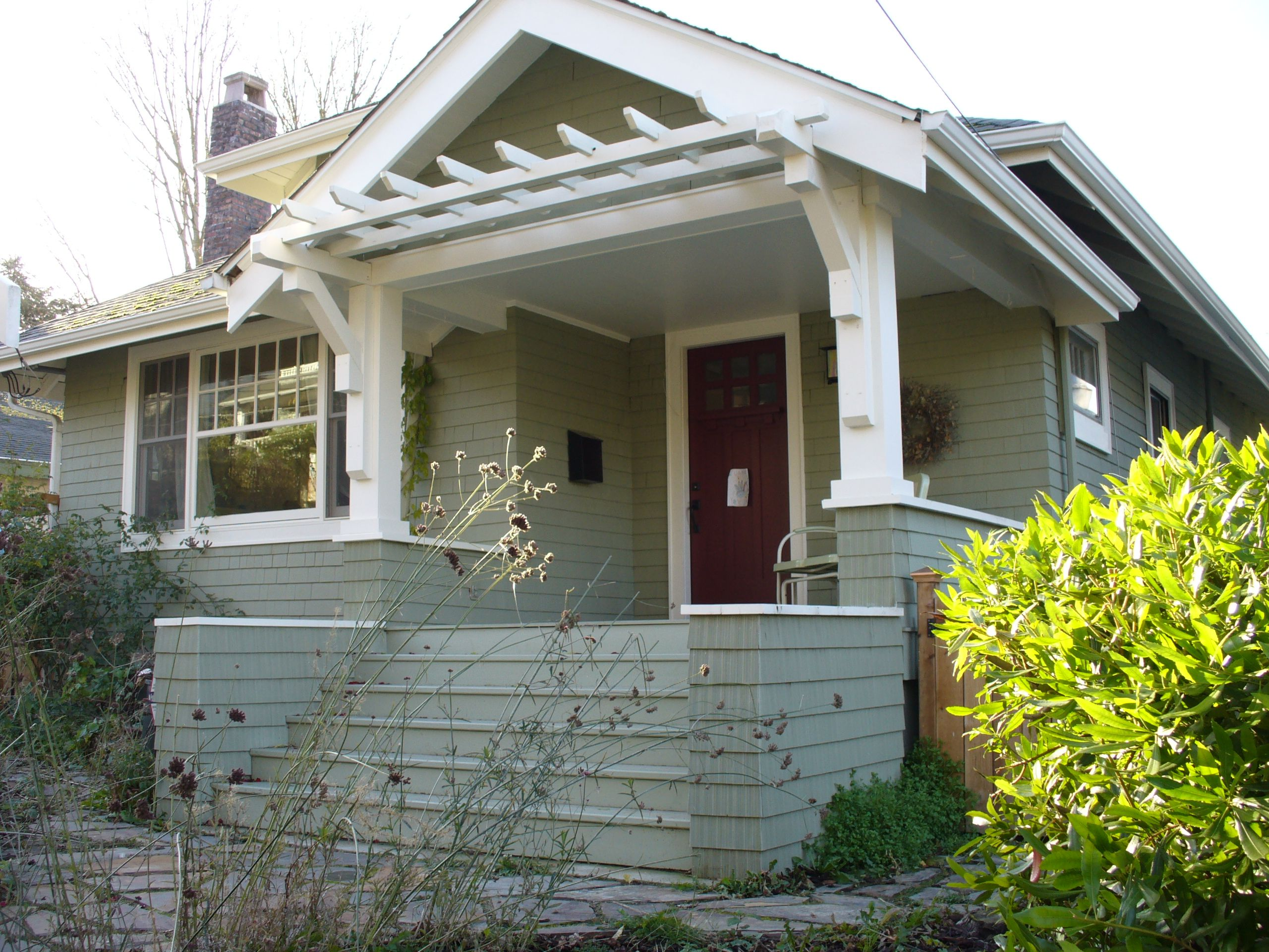 House projects side entrance ideas on pinterest for Craftsman style front porch