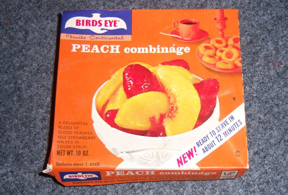 1960's or 70s Birdeye Peach Combinage Frozen Dessert Box