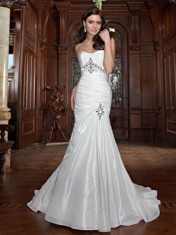 A Trumpet Wedding Dress [v00211u1w1705] - $160.00 : Cheap Prom ...