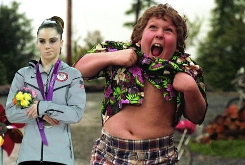 McKayla is not impressed with the truffle shuffle. #Goonies