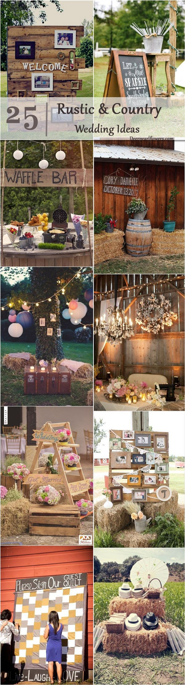 Country wedding decoration ideas   Gorgeous Country Rustic Wedding Ideas for your Big Day  Rustic