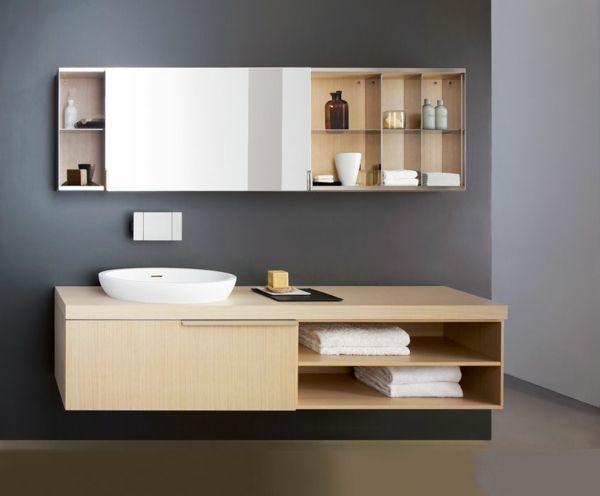 Badezimmer Spiegelschrank aus Holz- 22 moderne Ideen Schöner