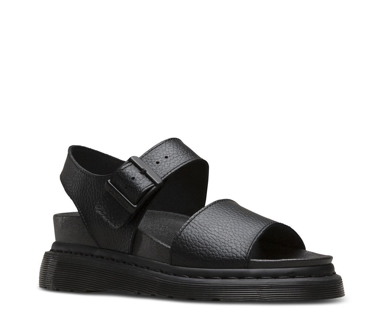 Black sandals with straps - Dr Martens Romi Black Platform Sandalsblack