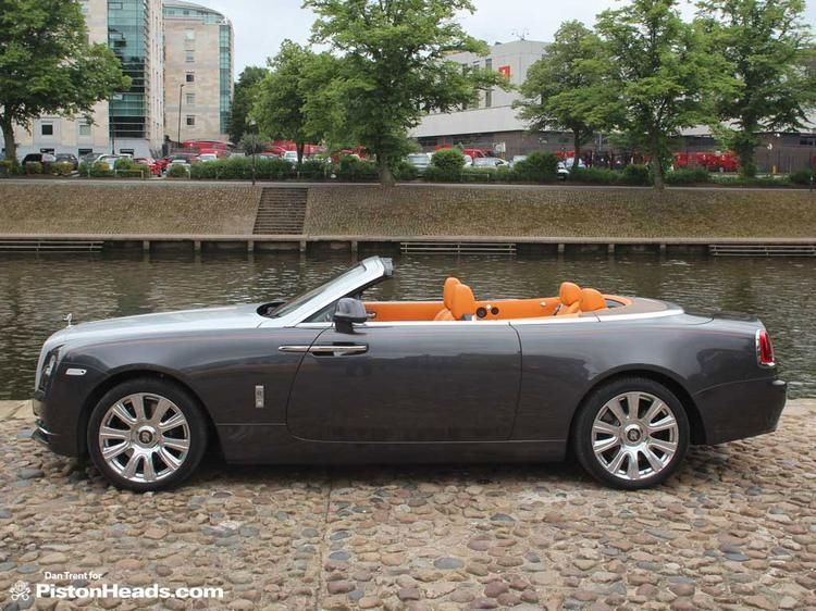 The Rolls Royce Dawn Drophead Coupe Mandarin Orange Brown