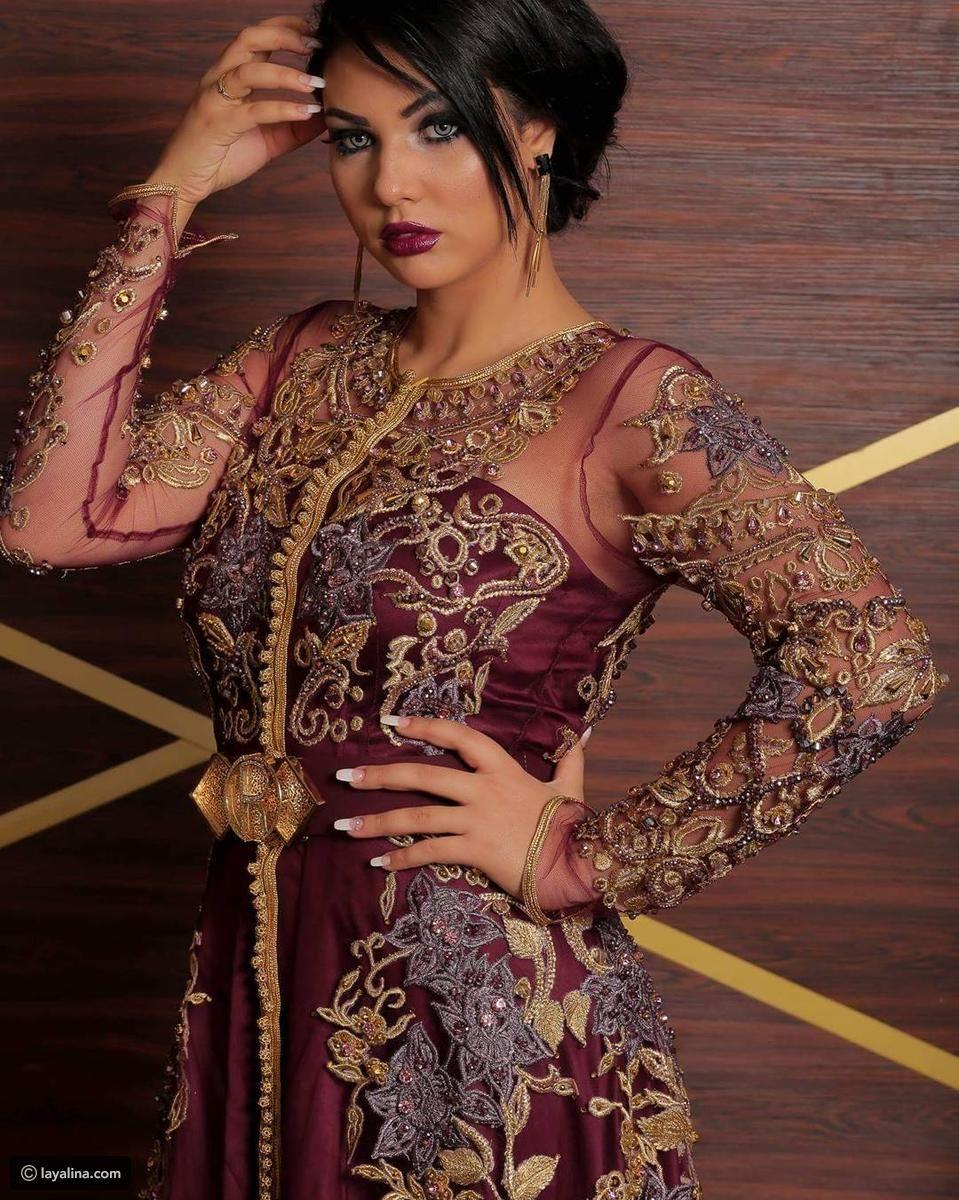 أجمل صور ابتسام تسكت شبيهة هيفاء وهبي بالقفطان المغربي ليالينا Moroccan Dress Moroccan Fashion Moroccan Caftan
