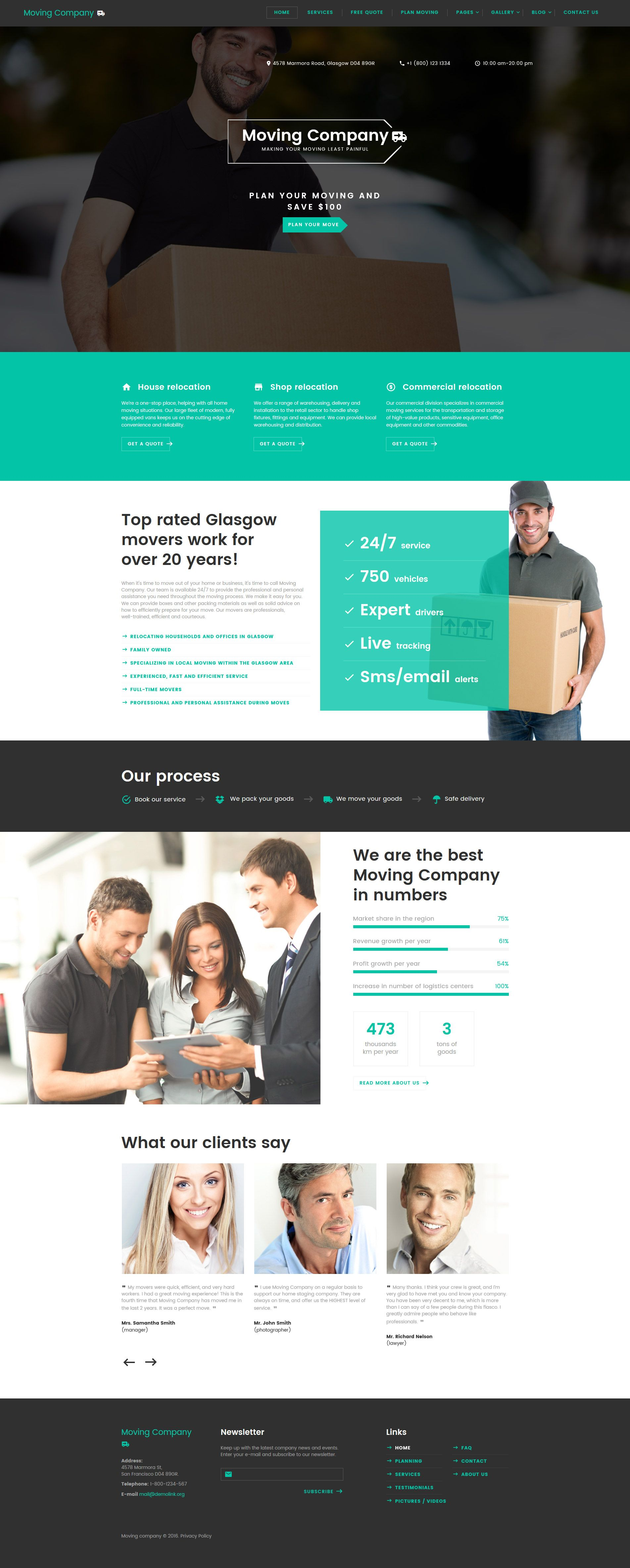 Moving Company Responsive Website Template New Website Templates