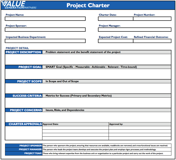 Project Charter Template Powerpoint Project Charter Template