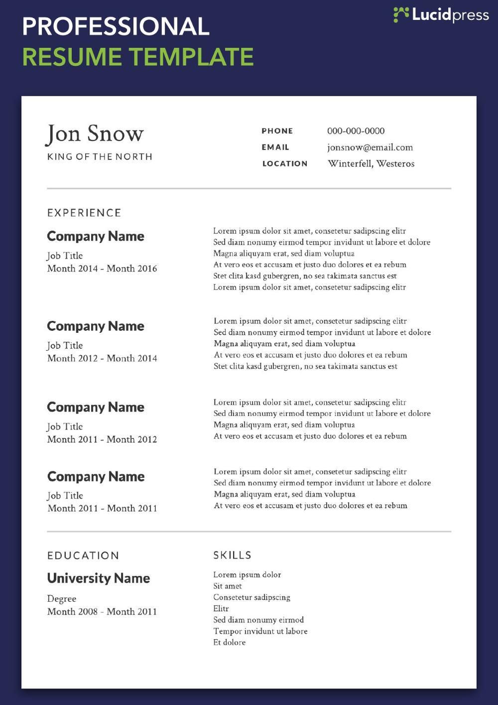 Resume Format 2019 from i.pinimg.com