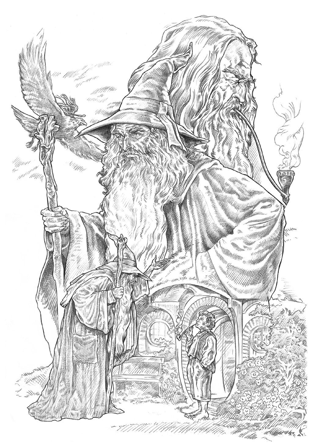 Gandalf By Nachocastrodeviantartcom On At Deviantart From
