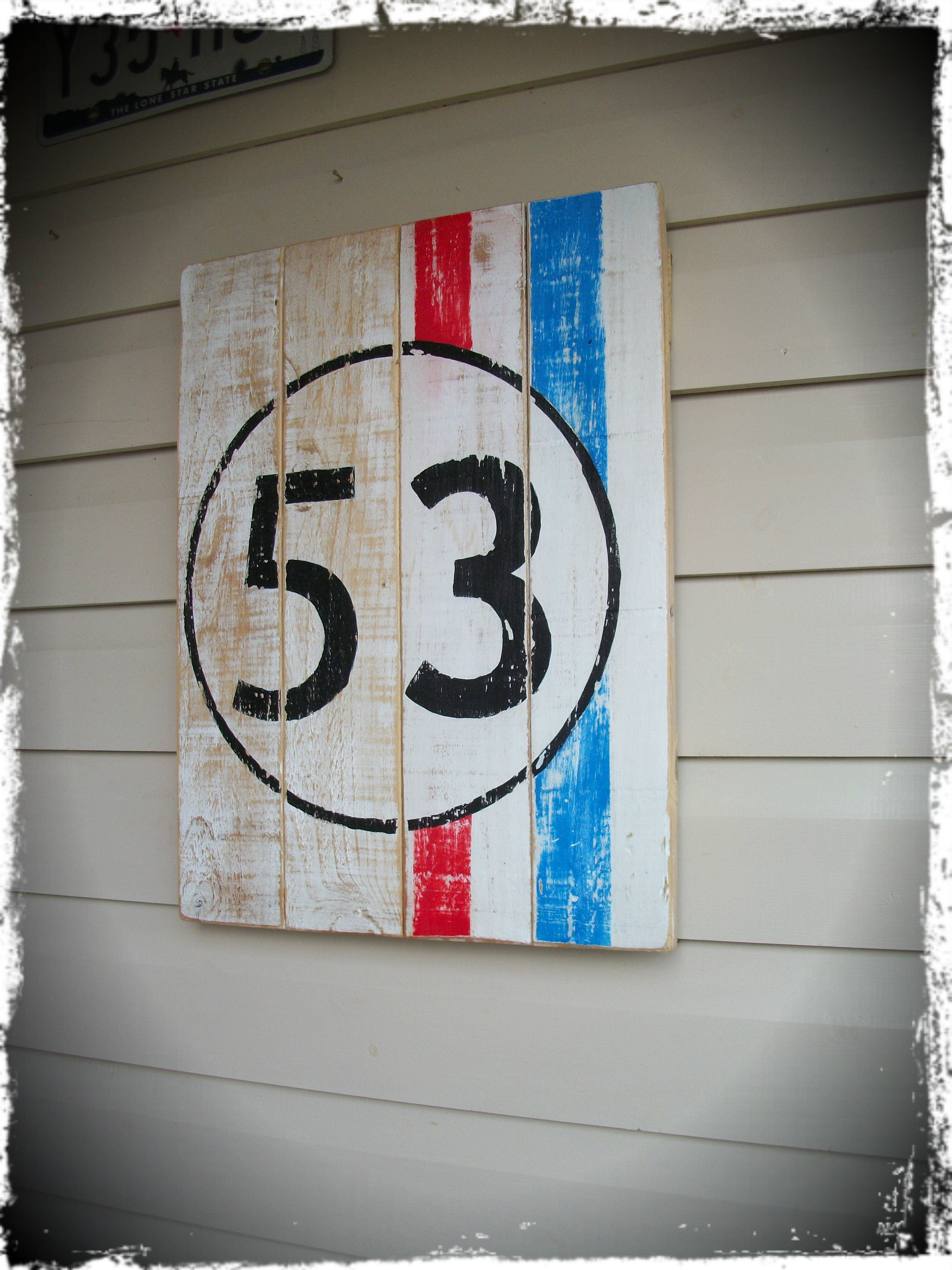 herbie wooden wall art 38 5cm x 51cm hand sign written contact me if