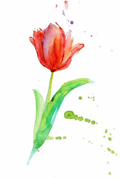Watercolor Flower Art Print Perfect Example Of The Watercolor