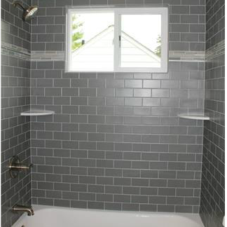 Gloss Finish Silver Gray Subway Ceramic Tile Wall Tile Ideas