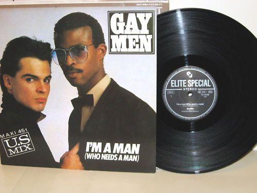 "GAY MEN - I'm A Man U.S Mix XZ 45/89 ItaloDisco 12""MAXI"