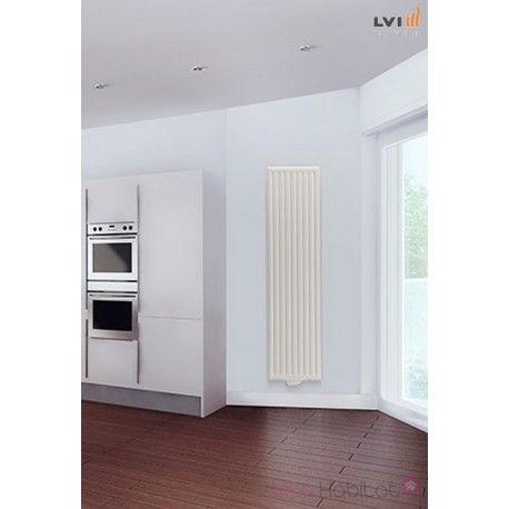 Radiateur électrique Yali GV Vertical Blanc de LVI #vitahabitat - Peindre Un Radiateur Electrique