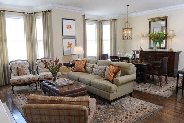 Classic Living Room With Dining Room Combo Living Room Dining Room Combo Traditional Living Room Living Dining Room