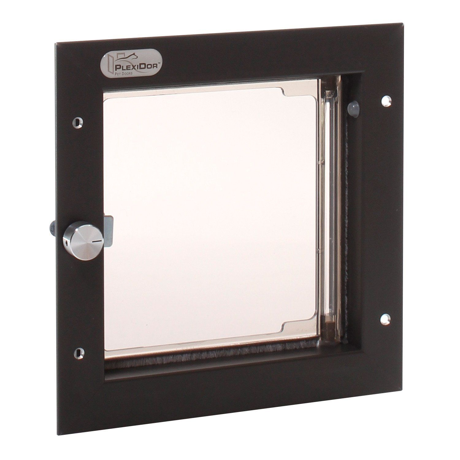 PlexiDor Performance cat Doors Small Bronze Wall Mount