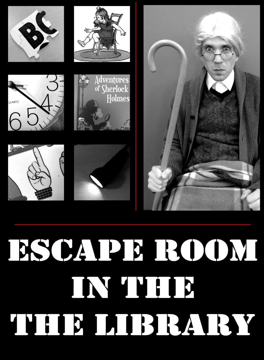 Library Escape Rooms Are Really Big Right Now So I Tried To Design This Program So That Any Library C School Library Lessons Escape Room Library Book Displays