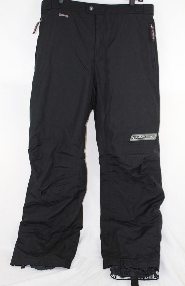197d7431722 Details about SPYDER Men's Black Insulated Ski Snowboard Snow Pants ...