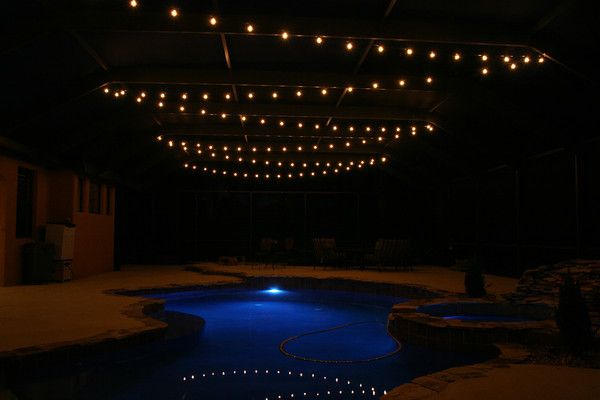 Pool Deck Patio Lighting Photos Tampalights Swimming Pool Lights Lanai Lighting Pool Lights