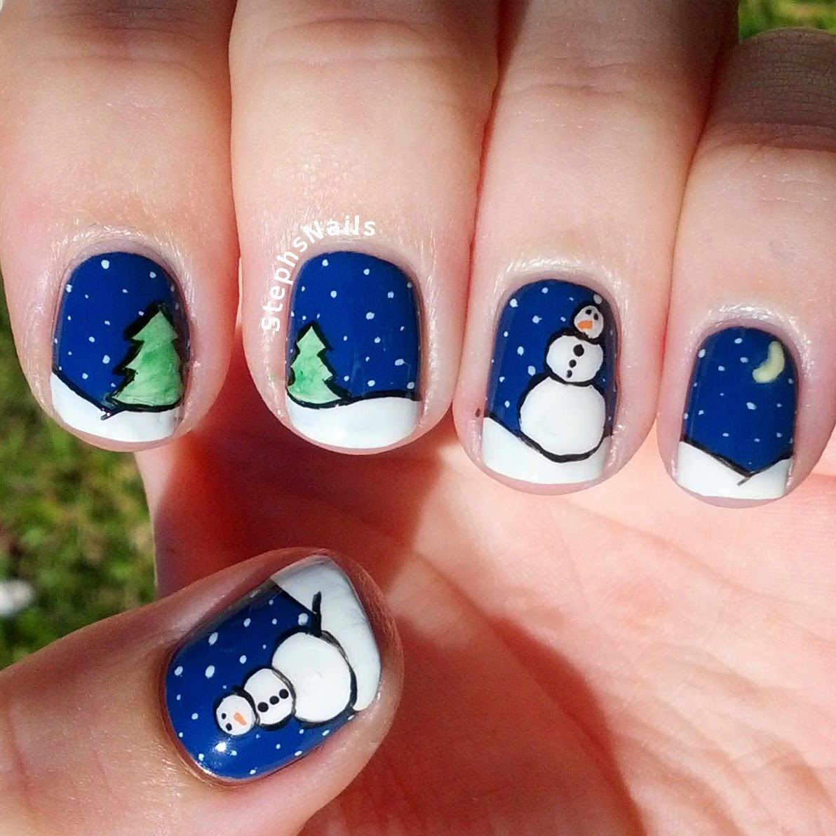 Stephsnails Winter Nails Stephsnailss Miscellaneous Nail Art