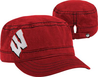 Wisconsin Badgers New Era Women s Chic Cadet Military Hat  79cd511ba