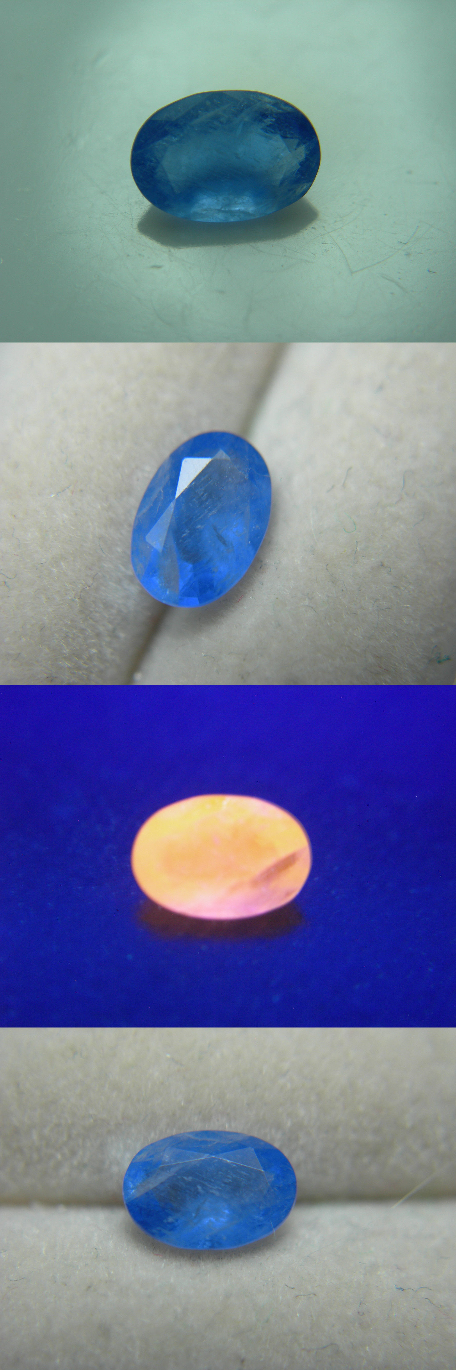 Sodalite 69179: Extremely Rare Gem Blue Sodalite Gemstone Strong Orange Fluorescent Gemmy 0.51Ct BUY IT NOW ONLY: $450.0