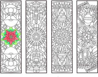 Christmas Mandala Bookmarks Candyhippie Coloring Pages