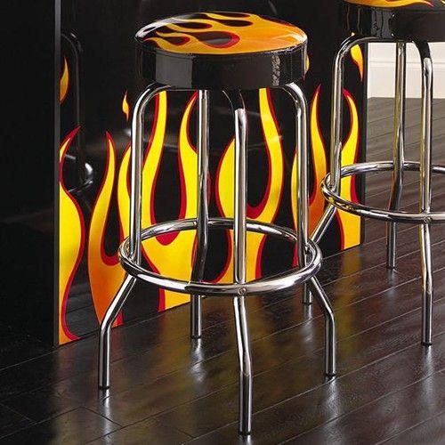 Flame Hot Rod Swivel Bar Stool By Bernards Ottumwa Oskaloosa Fairfield Iowa