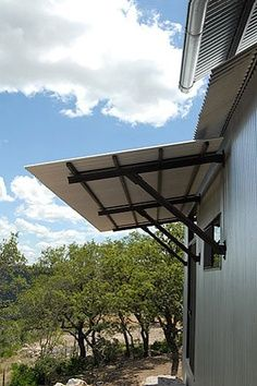 Door Overhang House With Porch Metal Awning House Exterior