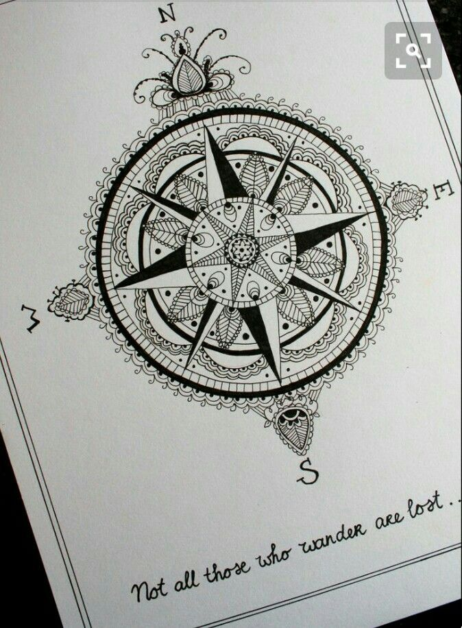 Not All Those Who Wander Are Lost Tattoo Compass Not All Those Who Wander Are Lost Compass Tattoo Compass Tattoo Design New Tattoos