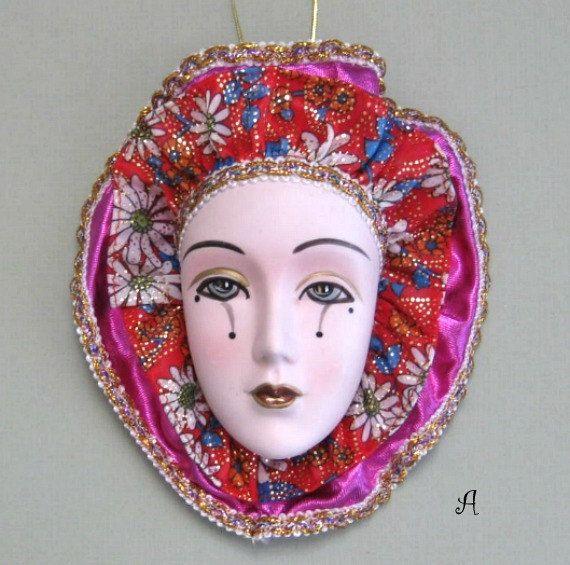 Porcelain Masks Decoration Classy Venetian Mask Art Face Mask Wall Mask Ceramicafloralaffair Decorating Inspiration