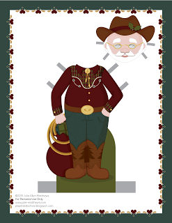Paper Doll School: December Paper Doll -- Santa Claus Paper Doll, Outfit 3