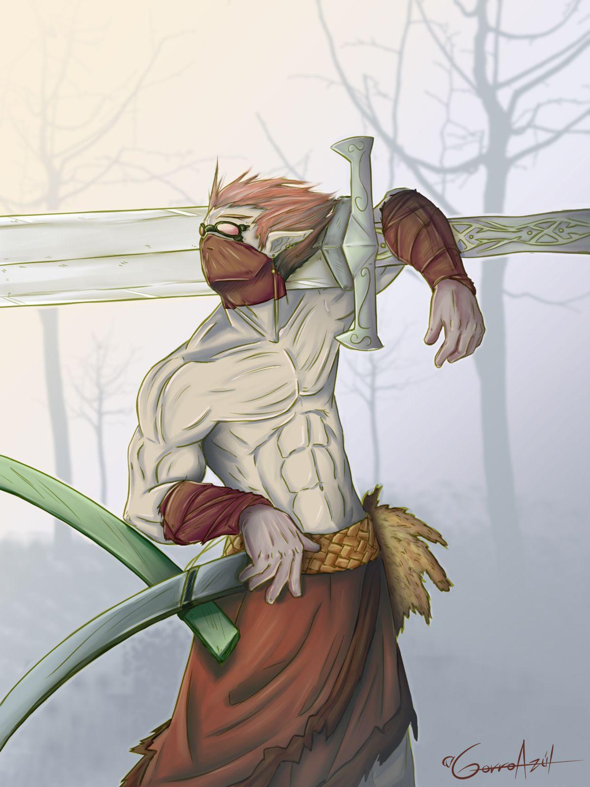 """Ilustración: """"Elfo Maestro de Espadas"""""""