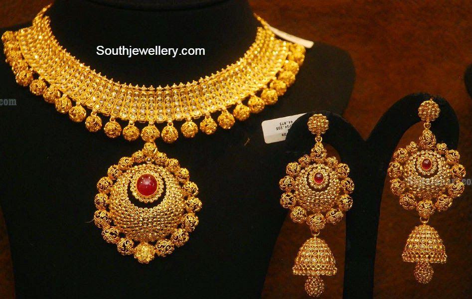 Chakri Uncut Diamond Necklace and Jhumkas   my wedding trousseau ...