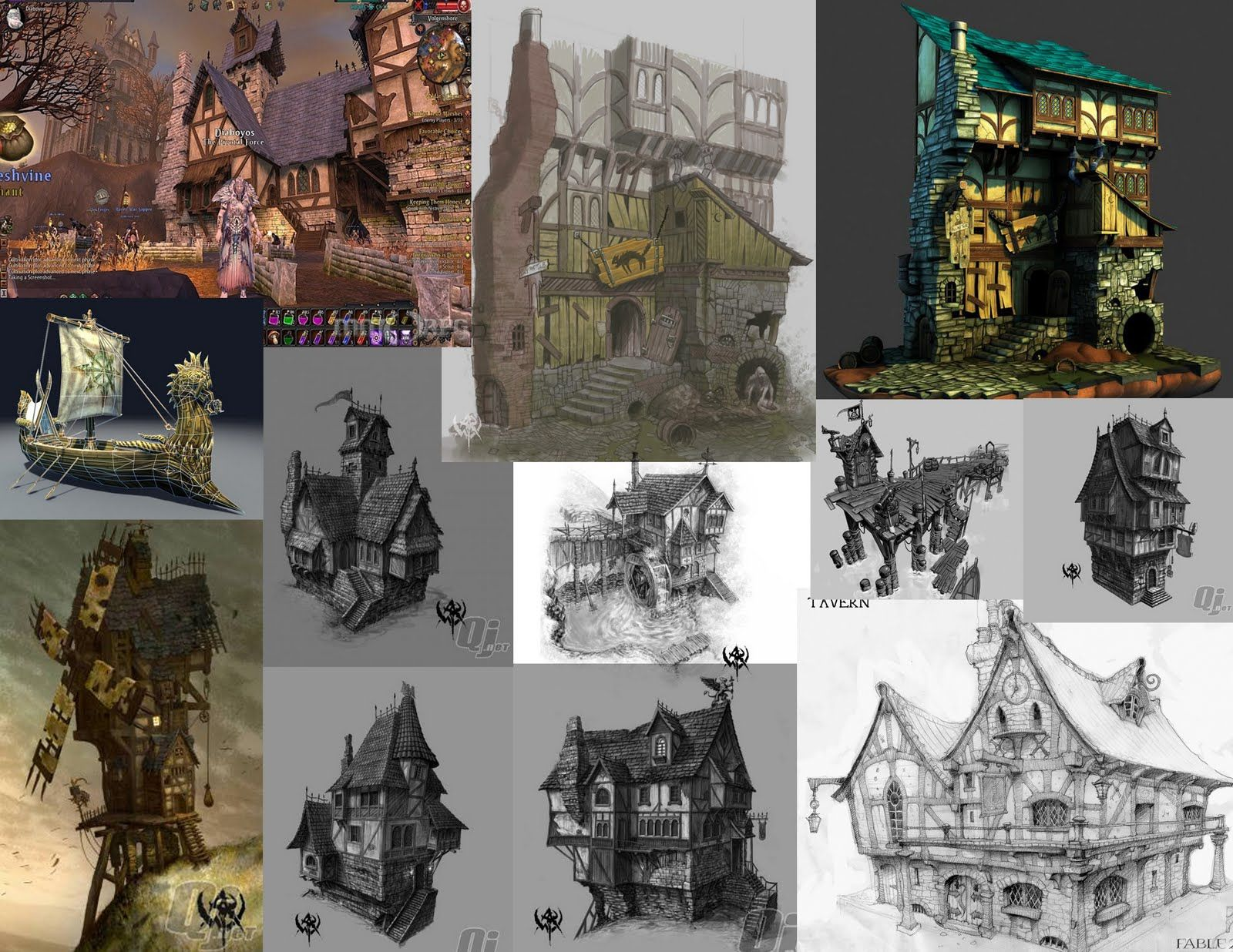 Tragark Village - inspirations pieces from Warhammer Online and a few from the Fable series:  Evolution: August 2011