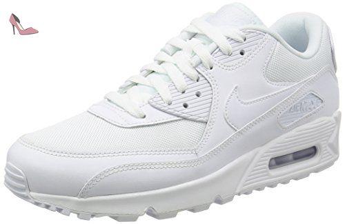 Nike Air Max 90 Essential, Baskets Basses Homme, Blanc