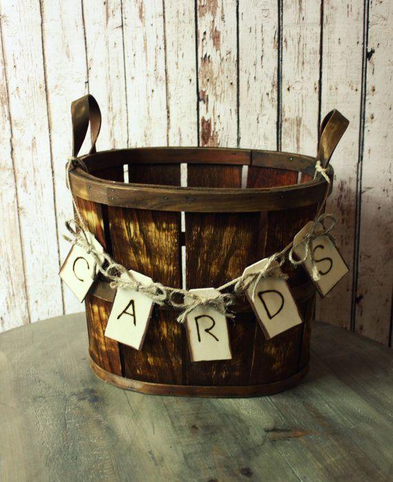 Fall Wedding Card Holder Ideas: Rustic Barrel Wedding Card Holder-Western Wedding-Wedding