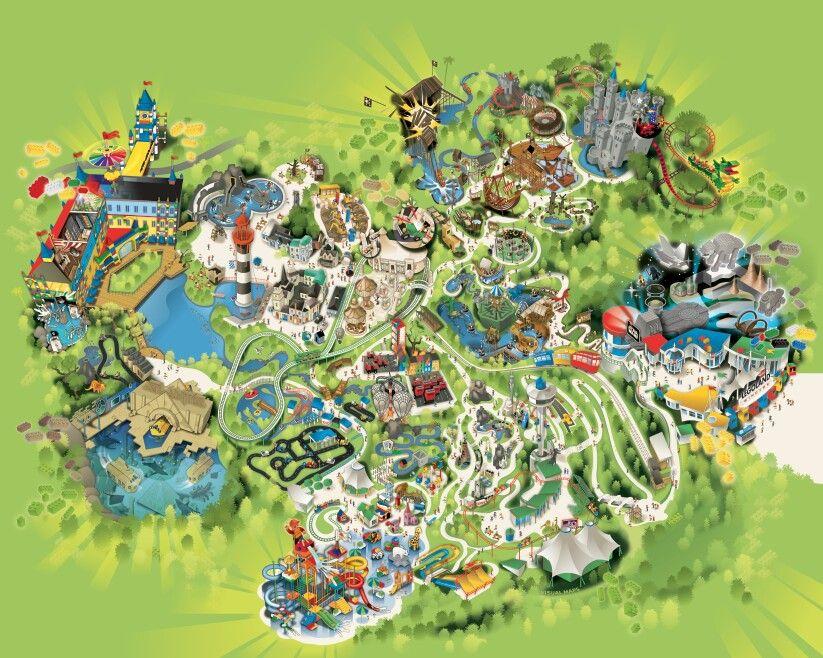 Pin by mi mi on 【Theme park】主题性公园   Theme park map
