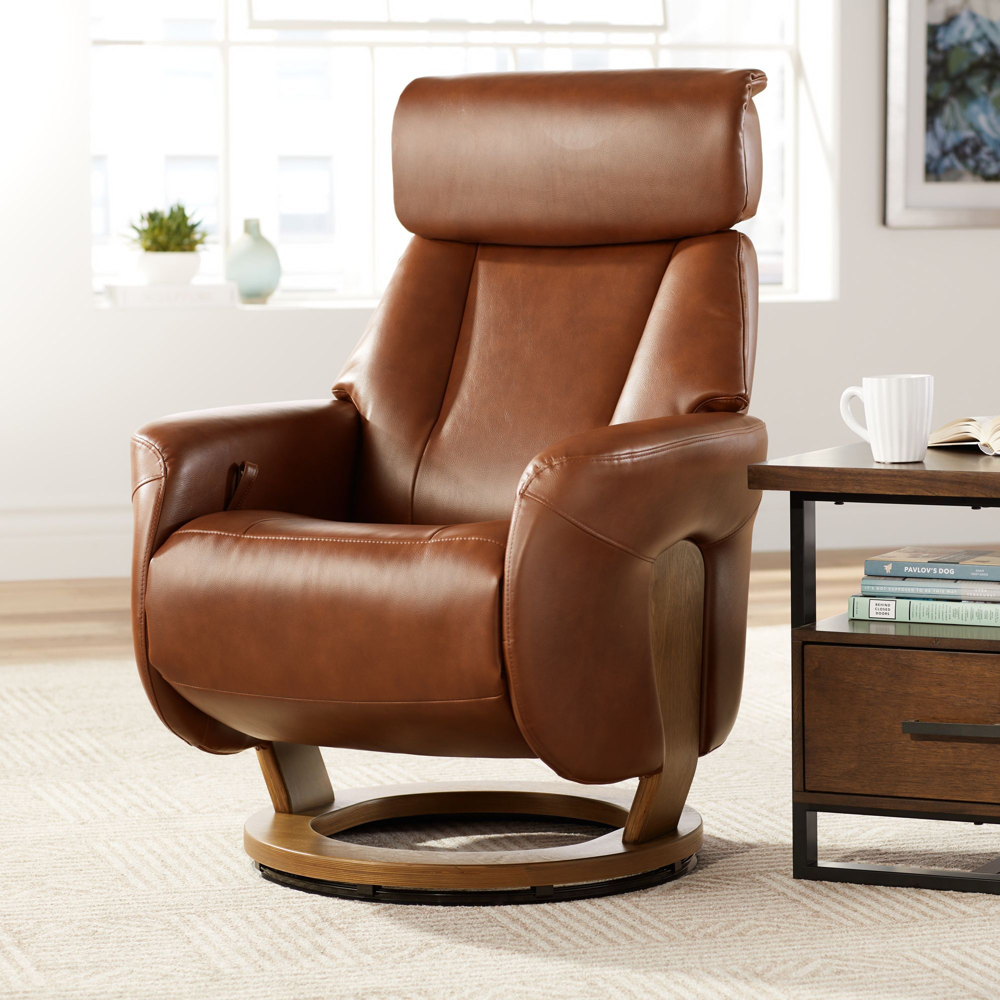 BenchMaster Augusta Brown Faux Leather 4Way Recliner
