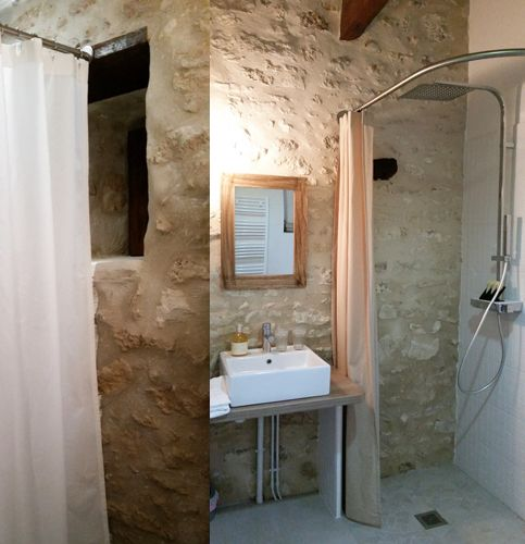 solution galbobain barre et rideau de douche en lin libeco dans les salles de bain des chambres. Black Bedroom Furniture Sets. Home Design Ideas