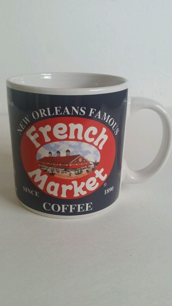 New Orleans Famous French Market Coffee Mug Souvenir Quarter