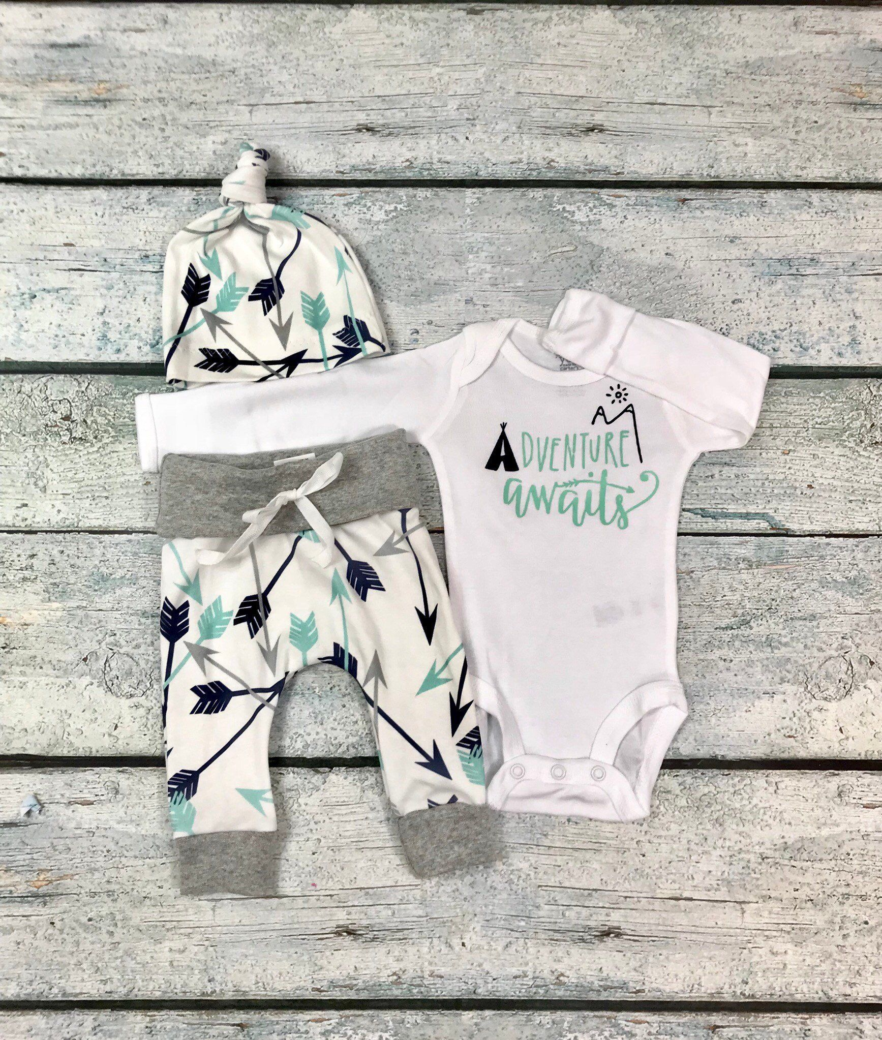 0ce2e1e5e baby boy coming home outfit adventure awaits outfit baby boy take home outfit  newborn outfit organic cotton newborn set baby shower gift by ...