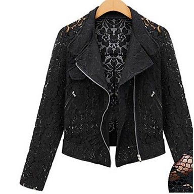 Black Lace Moto Jacket! (Also in Ivory)