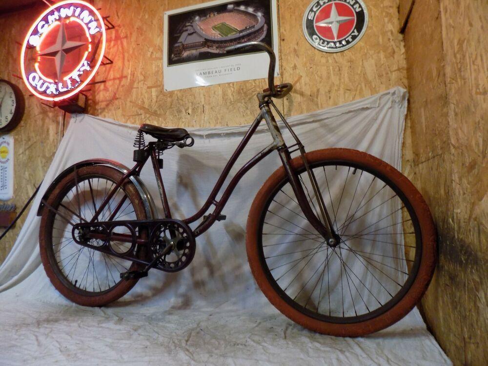 Ebay Sponsored 1935 37 Schwinn Liberty Prewar Cruiser Bike Vintage Motorbike Aerocycle B6 B10e Vintage Bikes Schwinn Cruiser Bike