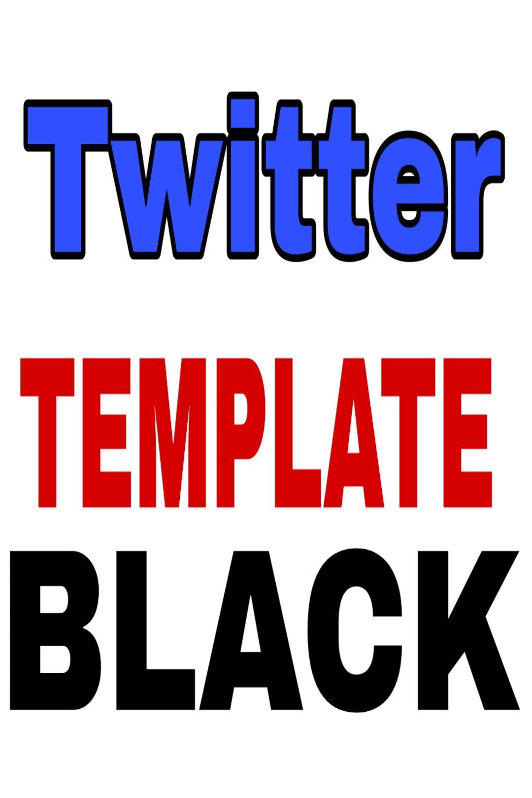 Twitter Template Como Deixar O Twitter Com Template Preto E