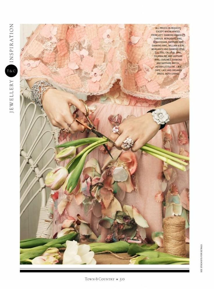 Photo of Chanel couture and jewelry editorial, photographed by Paul Zak for Town & Coun ….