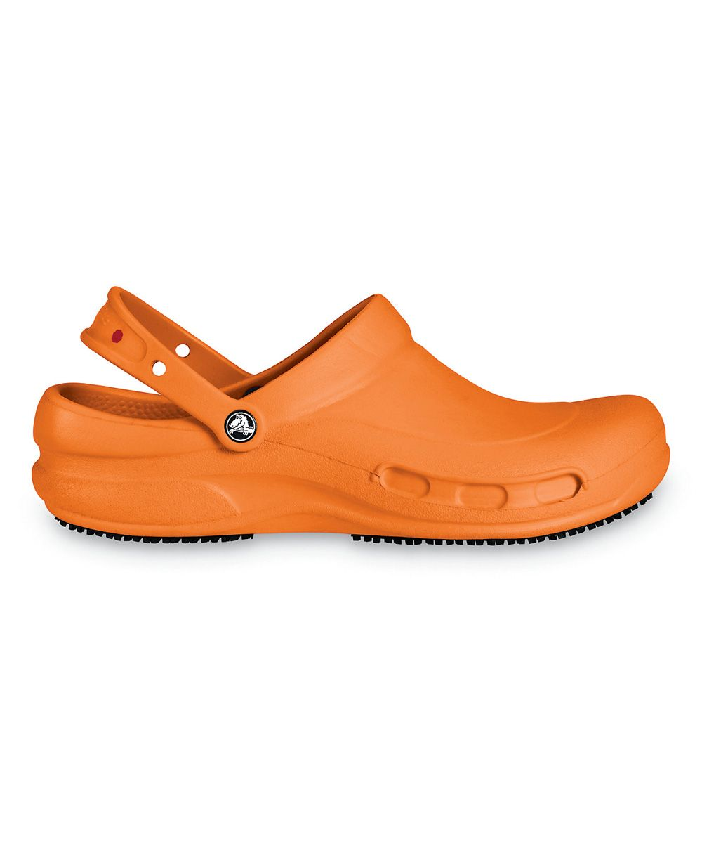 81958cfbf0735 Mario Batali employs some Croc tactics snapping up 200 PAIRS of . Orange  Bistro Batali Edition Clog - Unisex
