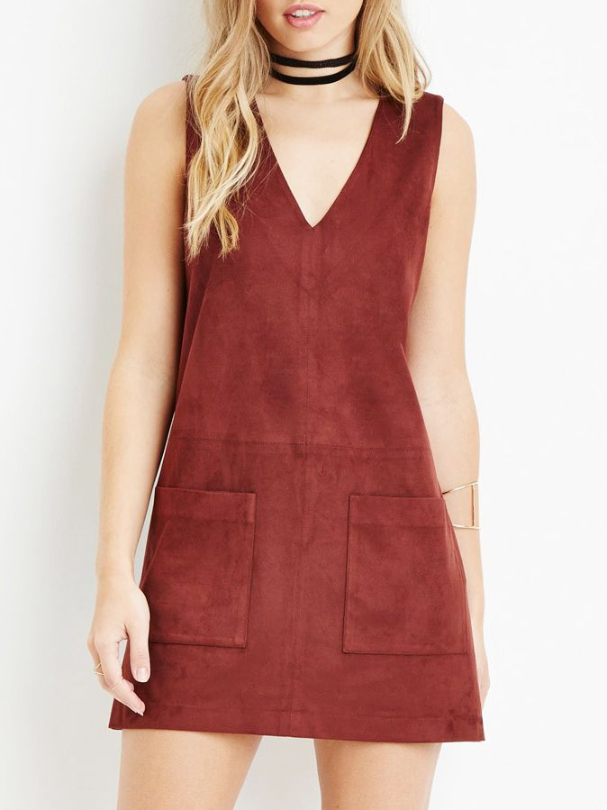 bcc5227d3d4c Shop Red Sleeveless Pockets A Line Dress online. SheIn offers Red Sleeveless  Pockets A Line Dress & more to fit your fashionable needs.